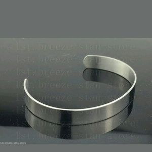 Other - High Polish Stainless Steel Blank Cuff Bracelet